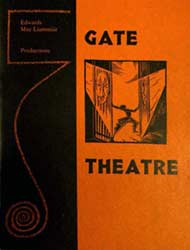 Playbill from the Gate Theatre