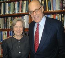 Leonard Millberg with President Tilghman