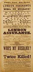 Playbill for 'London Assurance'