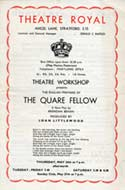 Playbill for 'The Quare Fellow'
