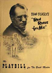 Playbill for 'Red Roses for Me'