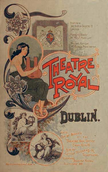 Poster for the Theatre Royal in Dublin